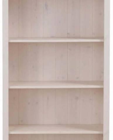 Bílá knihovna z masivního borovicového dřeva Støraa Pinto