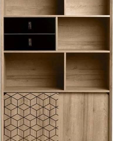 Knihovna v dekoru dubového dřeva Marckeric Ceilan