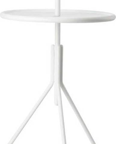 Bílý kovový odkládací stolek Zone Inu,ø33,8cm