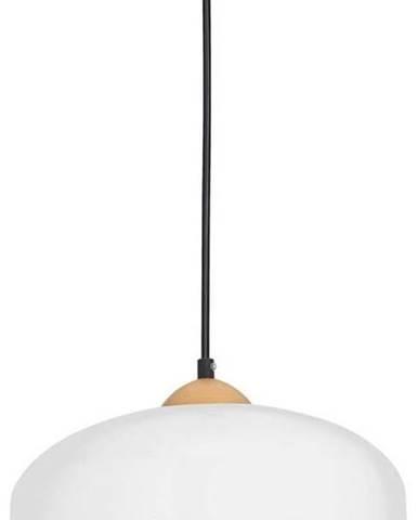 Bílé závěsné svítidlo s dřevěnými detaily Homemania Studio Uno