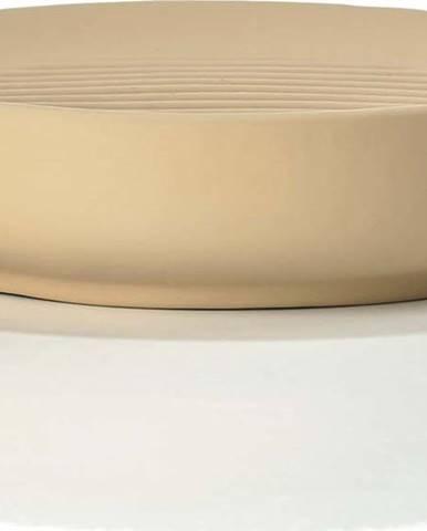 Béžová porcelánová mýdlenka Zone Ume