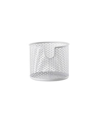 Bílý kovový úložný košík Zone Inu,ø10cm