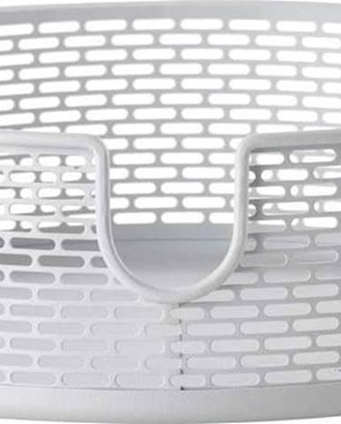 Bílý kovový úložný košík Zone Inu,ø20cm