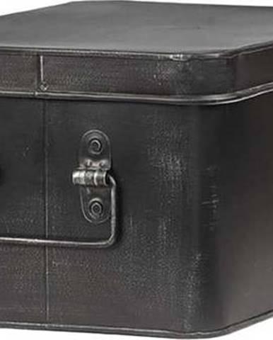 Černý kovový úložný box LABEL51 Media, šířka 27cm