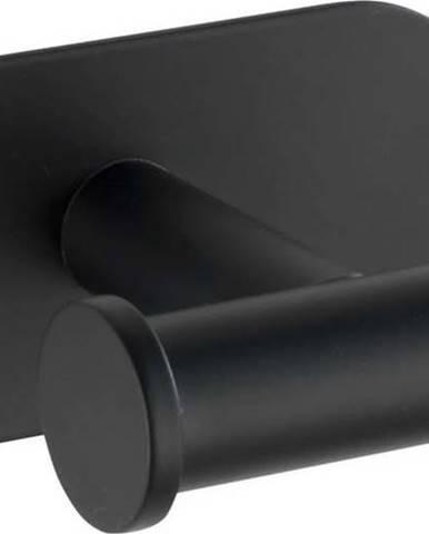 Černý samodržící držák na ručníky Wenko Orea