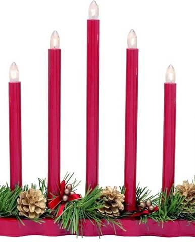 Červený svícen Markslöjd Hol, výška 31 cm