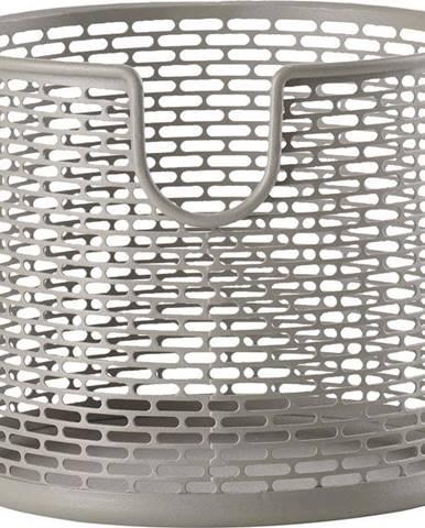 Šedý kovový úložný košík Zone Inu,ø10cm
