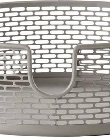 Šedý kovový úložný košík Zone Inu,ø20cm