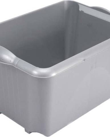 Šedý úložný box Addis Unistore Box Metallic, 30 l