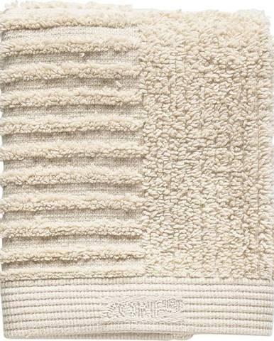 Béžový bavlněný ručník na obličej Zone Classic,30x30cm