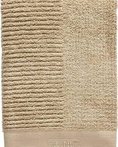 Tmavě béžový bavlněný ručník Zone Classic,100x50cm