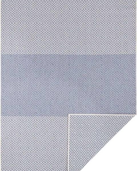 Bougari Modrý oboustranný venkovní koberec Bougari Borneo, 80 x 150 cm