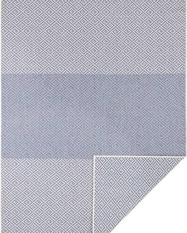 Modrý oboustranný venkovní koberec Bougari Borneo, 80 x 150 cm