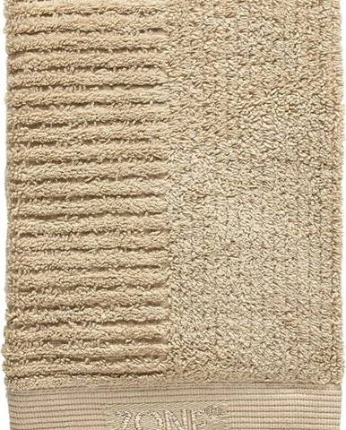 Tmavě béžový bavlněný ručník Zone Classic,70x50cm