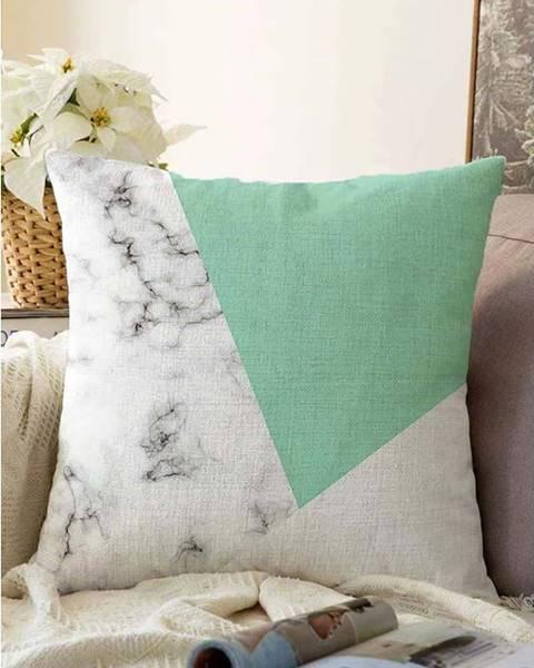 Minimalist Cushion Covers Zeleno-šedý povlak na polštář s příměsí bavlny Minimalist Cushion Covers Marble,55x55cm
