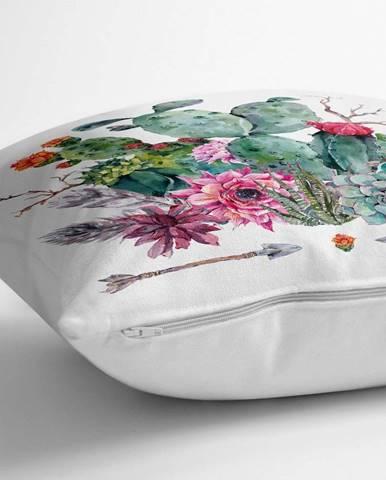 Povlak na polštář s příměsí bavlny Minimalist Cushion Covers Desert Flowers,70x70cm