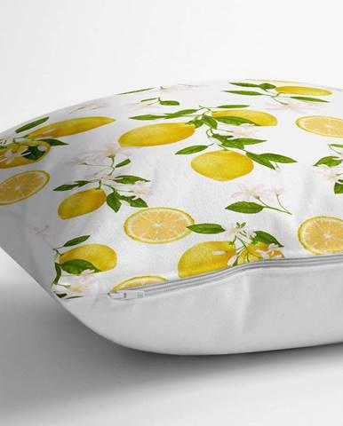 Povlak na polštář s příměsí bavlny Minimalist Cushion Covers Lemons,70x70cm