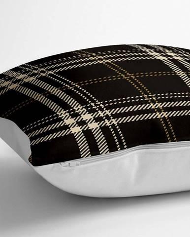 Povlak na polštář s příměsí bavlny Minimalist Cushion Covers Squares,70x70cm