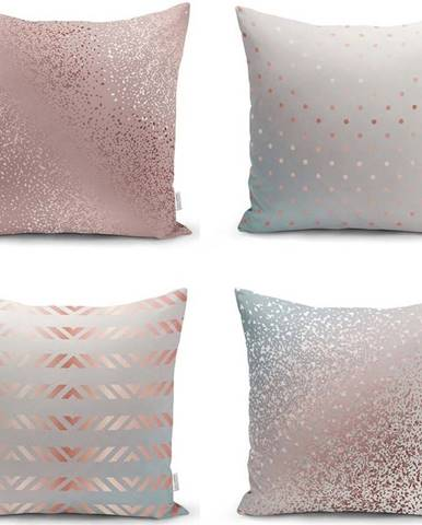 Sada 4 povlaků na polštáře Minimalist Cushion Covers All About Pastel, 45 x 45 cm