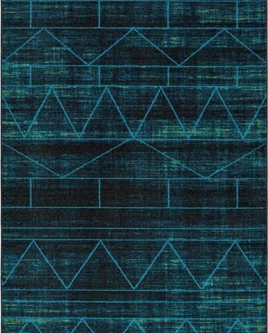 Modrý koberec Universal Neon Blue, 80 x 150 cm