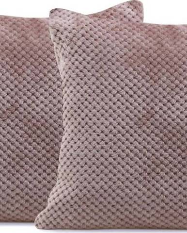 Sada 2 světle hnědých povlaků na polštáře z mikrovlákna DecoKing Henry, 45 x 45 cm