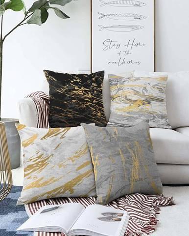Sada 4 povlaků na polštáře Minimalist Cushion Covers Artsy,55 x 55 cm