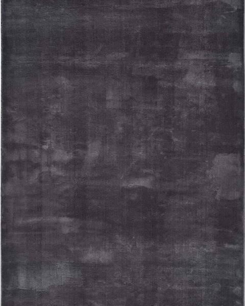 Universal Antracitově šedý koberec Universal Loft, 80 x 150 cm