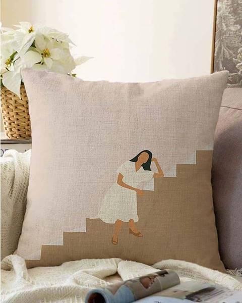 Minimalist Cushion Covers Povlak na polštář s příměsí bavlny Minimalist Cushion Covers Vacation,55x55cm