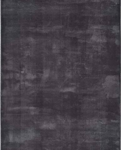 Antracitově šedý koberec Universal Loft, 80 x 150 cm