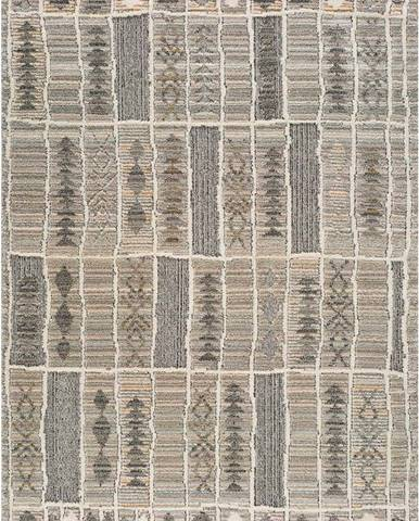 Béžový koberec Universal Piazza Stripe, 133 x 190 cm