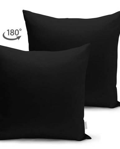 Černý povlak na polštář Minimalist Cushion Covers, 45 x 45 cm
