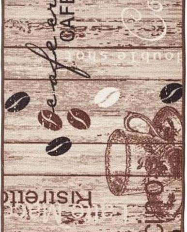 Hnědý kuchyňský běhoun Hanse HomeDeliciousCoffee, 67x180cm