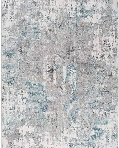 Modro-šedý koberec Universal Riad Abstract, 160 x 230 cm