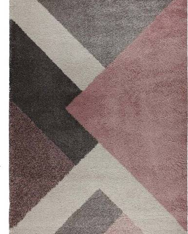 Růžovo-šedý koberec Flair Rugs Zula, 160 x 230 cm