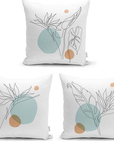 Sada 3 povlaků na polštáře Minimalist Cushion Covers Drawing Modern, 45 x 45 cm
