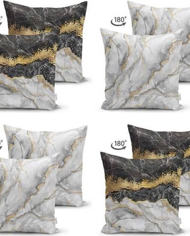 Sada 4 povlaků na polštáře Minimalist Cushion Covers Marble, 45 x 45 cm