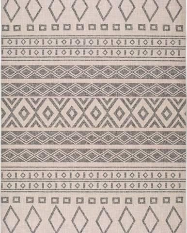 Šedý koberec Universal Lino Grey, 80 x 150 cm