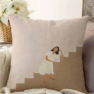 Povlak na polštář s příměsí bavlny Minimalist Cushion Covers Vacation,55x55cm