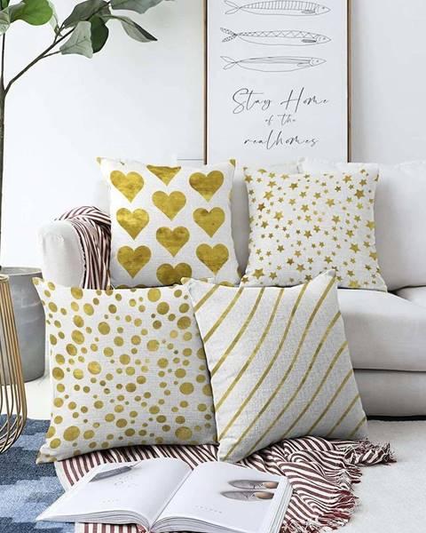 Minimalist Cushion Covers Sada 4 povlaků na polštáře Minimalist Cushion Covers Elegance,55 x 55 cm