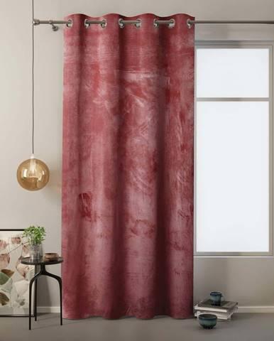 Červený závěs se sametovým povrchem AmeliaHome Velvet,140x245cm