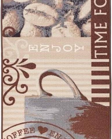 Hnědý kuchyňský běhoun Hanse Home CoffeeTime, 67x180cm