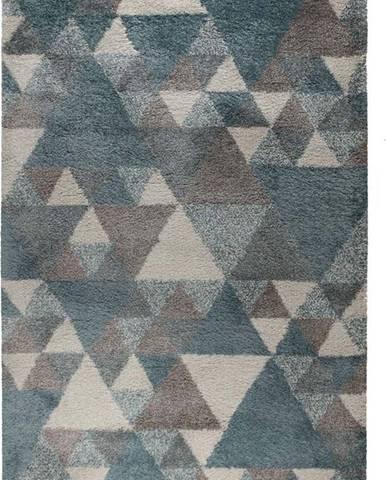 Modro-šedý koberec Flair Rugs Nuru, 120 x 170 cm