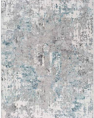 Modro-šedý koberec Universal Riad Abstract, 120 x 170 cm