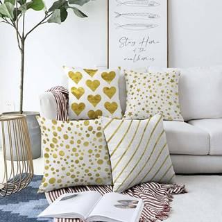 Sada 4 povlaků na polštáře Minimalist Cushion Covers Elegance,55 x 55 cm