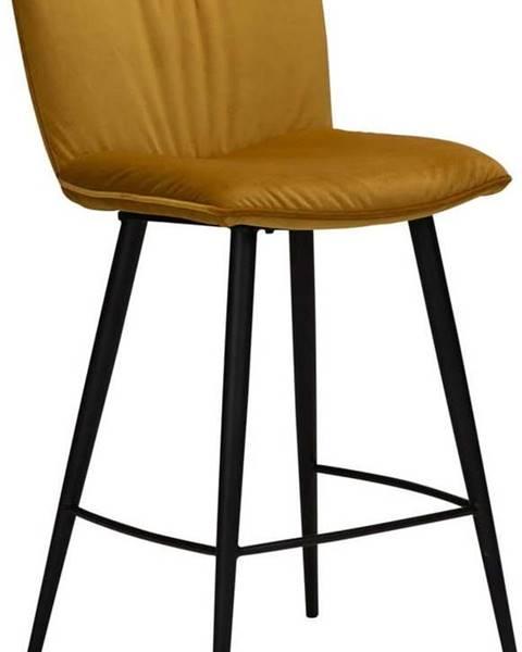 DAN-FORM Denmark Žlutá sametová barová židle DAN-FORM Denmark Join, výška 93 cm