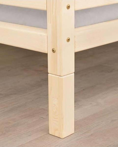 Benlemi Sada 4 prodloužených nohou z lakovaného smrkového dřeva k posteli Benlemi,výška20cm