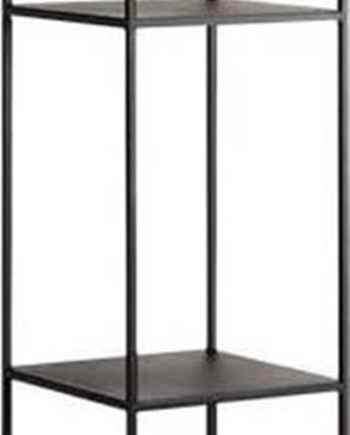 Černá kovová knihovna Custom Form Tensio, výška 230 cm