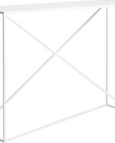Bílý konzolový stolek Custom Form Memo