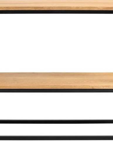 Černý konzolový stolek z dubového dřeva Custom Form Julita