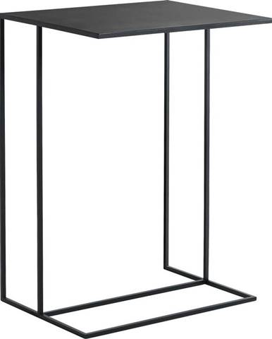 Černý kovový odkládací stolek Custom Form